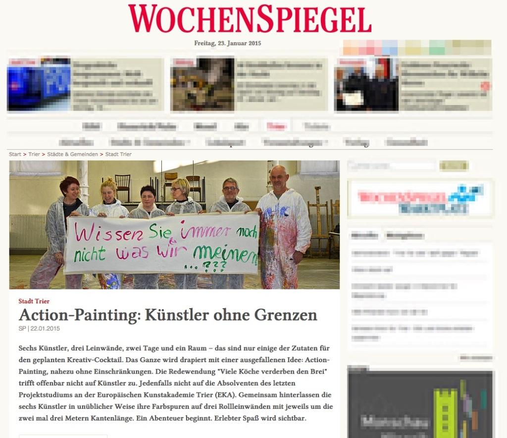 Action-Painting: Künstler ohne Grenzen, Tier